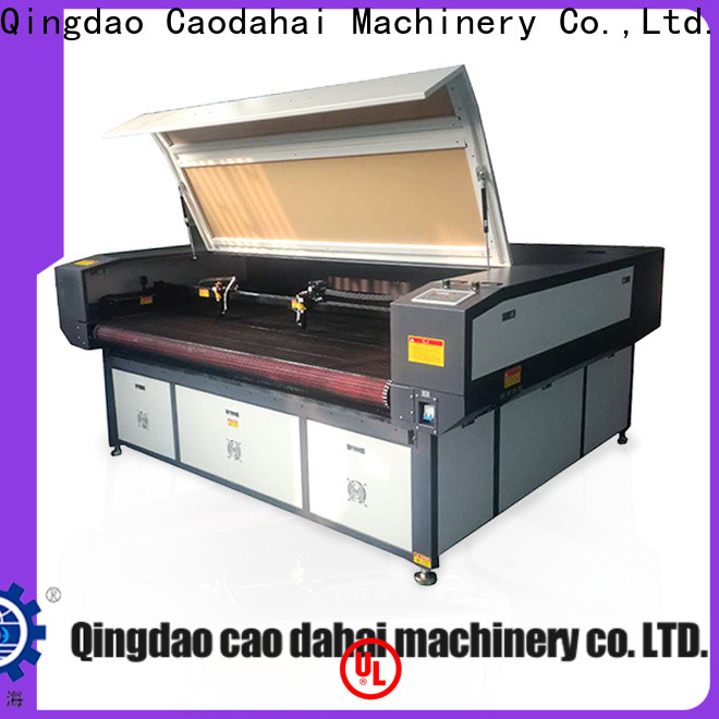 Caodahai reliable co2 laser cutting machine customized for soft toy