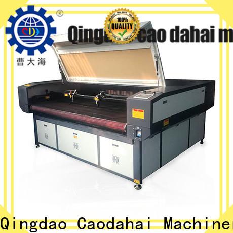 Caodahai fabric laser cutting machine manufacturer for work shop