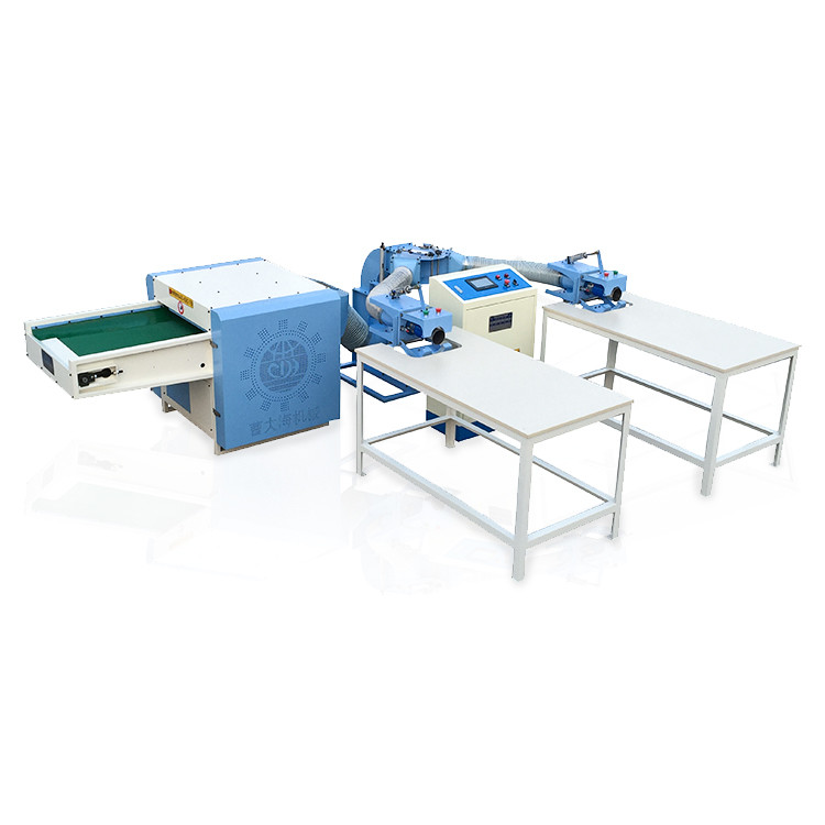 Pillow filling machine for polyester staple fiber raw materials