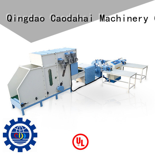 certificated automatic pillow filling machine personalized for production line